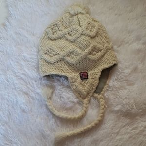 Adorable ivory color beanie